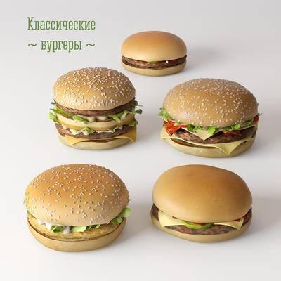 2000套国外模型, 现代, 食物, 汉堡