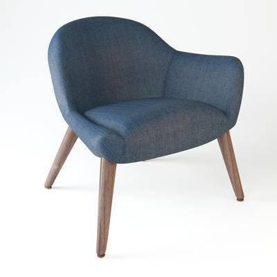 下得乐品牌模型库, 现代, 单椅, 沙发椅