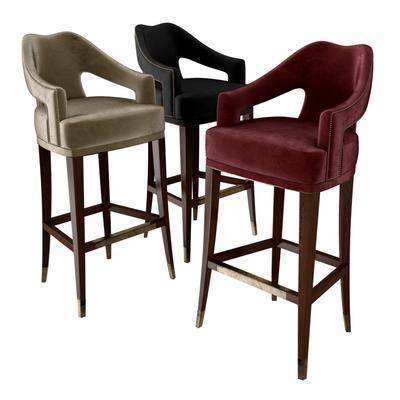 下得乐品牌模型库, 现代, 吧椅