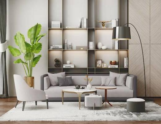 下得乐2019季千套模型, 现代, 沙发组合