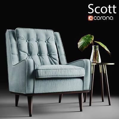 现代, 沙发, 休闲沙发, 单人沙发