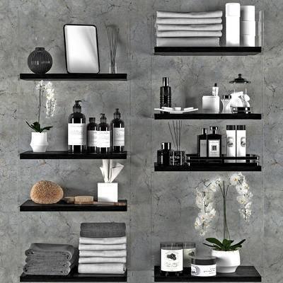 现代, 洗漱用品, 摆件, 盆栽, 陈设品
