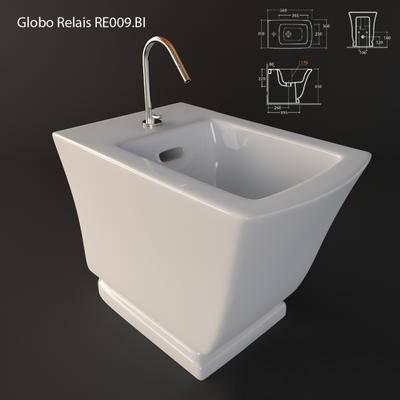 2000套高精3D单体模型, 现代, 洗漱盆