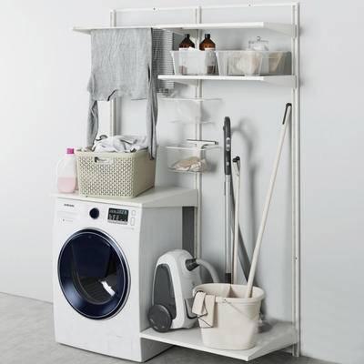 2000套高精3D单体模型, 现代, 洗衣机, 摆件, 日用品