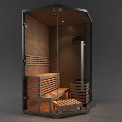 2000套高精3D单体模型, 现代, 桑拿房