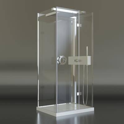 2000套高精3D单体模型, 现代, 淋浴间