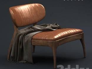 现代深棕单人沙发