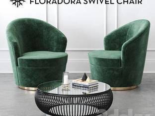 现代深绿色单人沙发