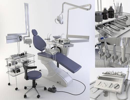 下得乐品牌模型库, 现代, 牙科设备, 医疗器械