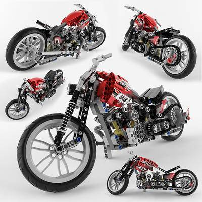 2000套高精3D单体模型, 现代, 玩具, 玩具摩托