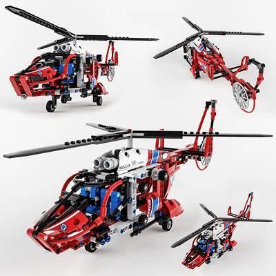 2000套高精3D单体模型, 现代, 玩具, 玩具直升机