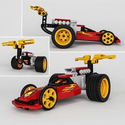 2000套高精3D单体模型, 下得乐品牌模型库, 现代, 玩具, 玩具车, 积木