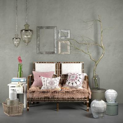 2000套国外模型, 现代, 田园风格, 沙发