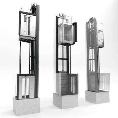 下得乐品牌模型库, 现代, 电梯, 公共设施