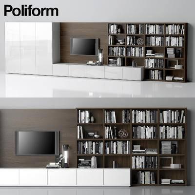 2000套国外模型, 现代, 电视柜, 展示柜, 装饰柜
