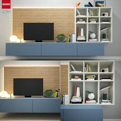 下得乐品牌模型库, 现代, 电视柜