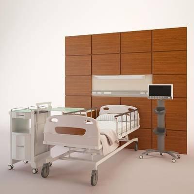 下得乐品牌模型库, 现代, 病床, 医疗器械