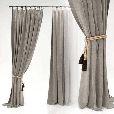 2000套国外模型, 现代, 窗帘