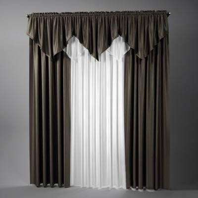 2000套高精3D单体模型, 现代, 窗帘