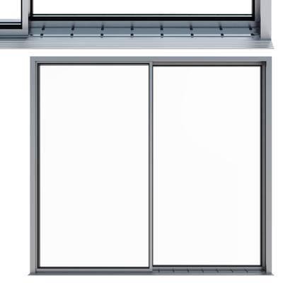 下得乐品牌模型库, 现代, 窗户架, 平开窗