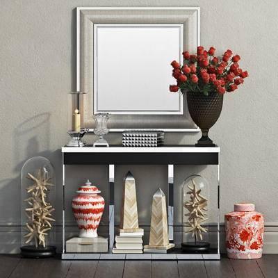 2000套高精3D单体模型, 现代, 端景台, 摆件, 挂壁镜