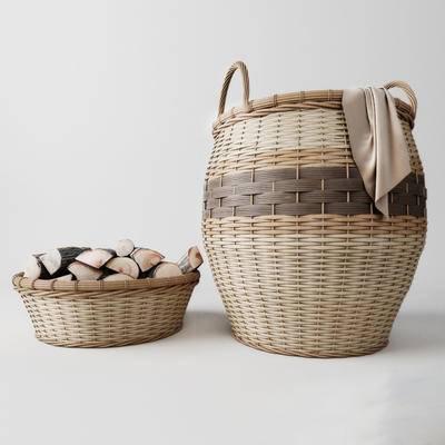 下得乐品牌模型库, 现代, 竹篓