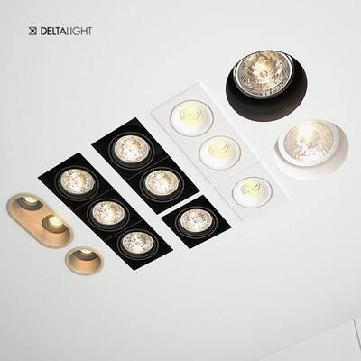 2000套高精3D单体模型, 现代, 筒灯, 射灯