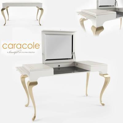 2000套高精3D单体模型, 简欧, 梳妆台