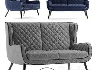 现代简约多人沙发32