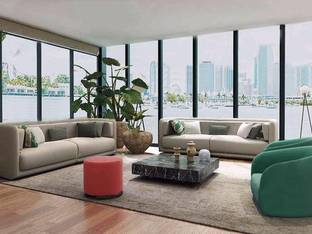 现代简约客厅植物3D模型