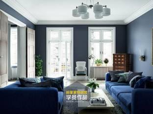 现代简约客厅3d模型2