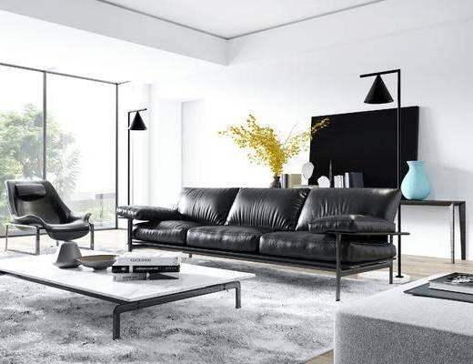 下得乐2019季千套模型, 现代, 沙发组合, 茶几组合