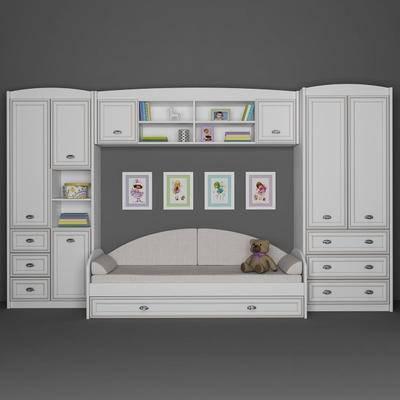 下得乐品牌模型库, 现代, 置物柜