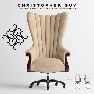 2000套高精3D单体模型, 美式, 办公椅