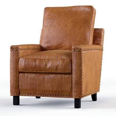 2000套高精3D单体模型, 美式, 单人沙发, 沙发