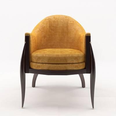 2000套高精3D单体模型, 美式, 椅子, 单椅, 休闲椅
