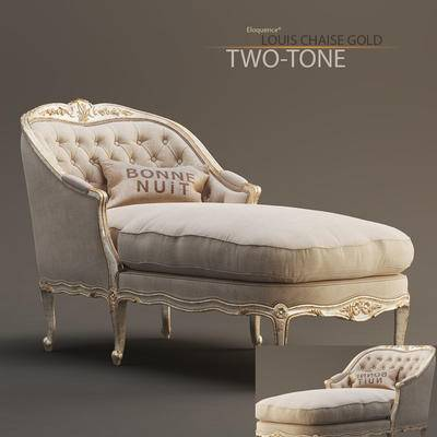 2000套高精3D单体模型, 美式, 贵妃椅, 单人沙发