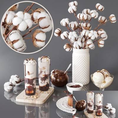 2000套国外模型, 现代, 花瓶, 花卉, 摆件, 陈设品