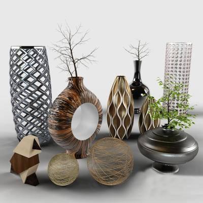 2000套高精3D单体模型, 现代, 花瓶, 摆设品, 摆件, 装饰品