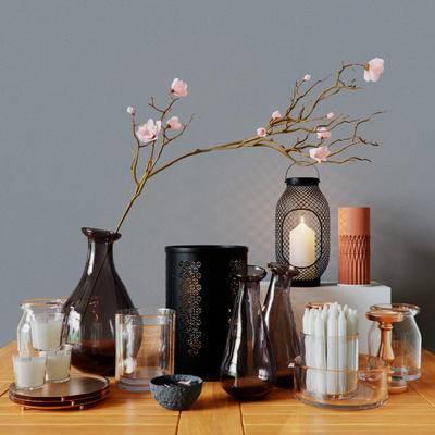2000套国外模型, 现代, 烛台, 花瓶花卉, 摆件, 陈设品