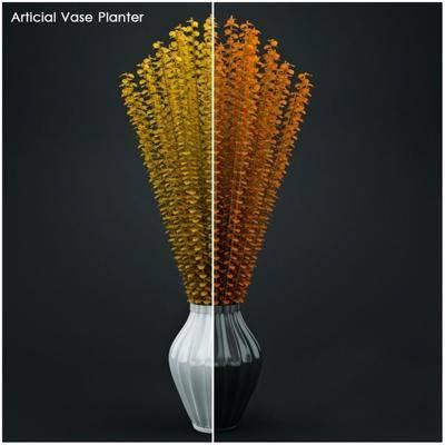 2000套高精3D单体模型, 现代, 花瓶, 摆件