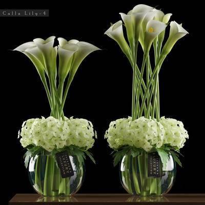 2000套高精3D单体模型, 现代, 盆栽, 花瓶, 绿植