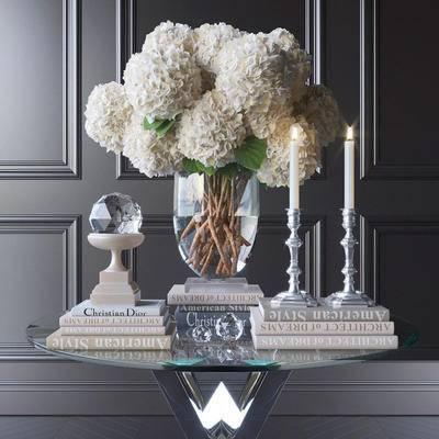 2000套高精3D单体模型, 现代, 花瓶, 摆件, 植物, 花卉