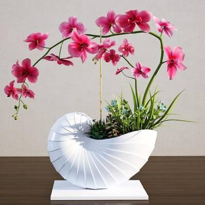 2000套高精3D单体模型, 现代, 植物, 盆栽, 绿植