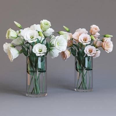 2000套高精3D单体模型, 现代, 花瓶, 植物, 绿植, 花卉, 摆件
