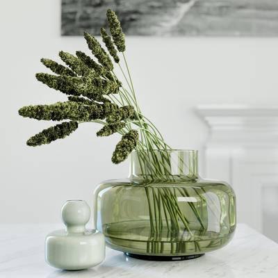 2000套高精3D单体模型, 现代, 花瓶, 植物, 摆件, 绿植