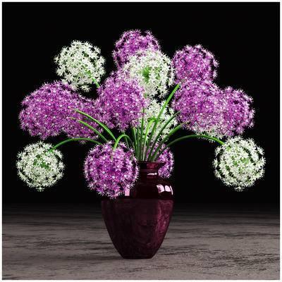 2000套高精3D单体模型, 现代, 花瓶, 植物, 花卉, 摆件