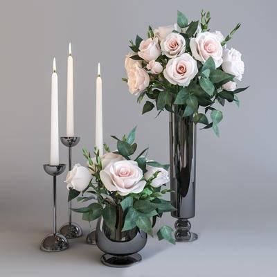 2000套高精3D单体模型, 现代, 花瓶, 摆件, 烛台