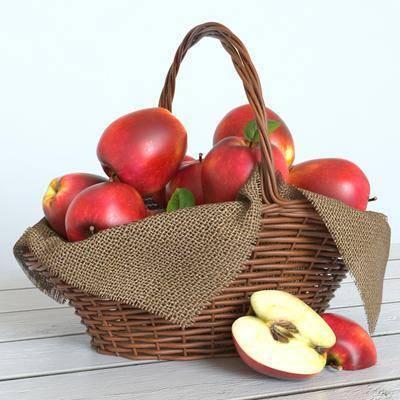 2000套国外模型, 现代, 水果, 食物, 苹果