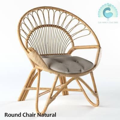 2000套高精3D单体模型, 现代, 藤编椅子, 单椅